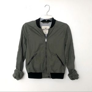 Hollister Army Green Bomber Jacket